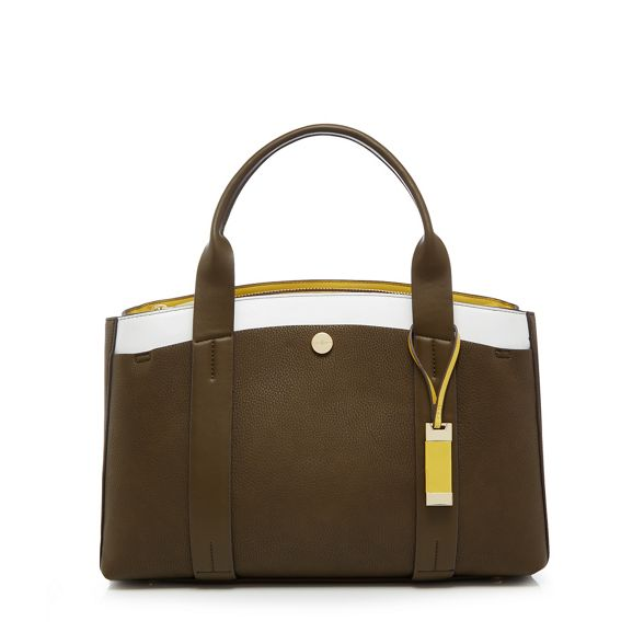 large grab Conran by J Jasper bag Khaki metal detail YZxfR