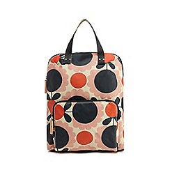 Orla Kiely - Pink scalloped floral print backpack