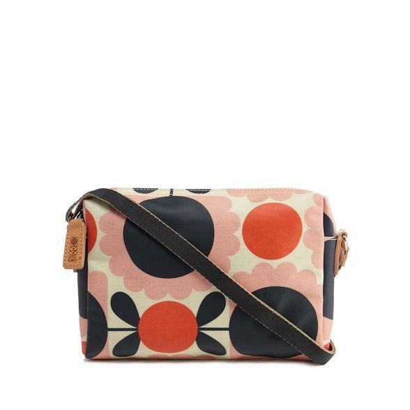 scalloped Pink body bag cross floral Orla Kiely print Hazxxw