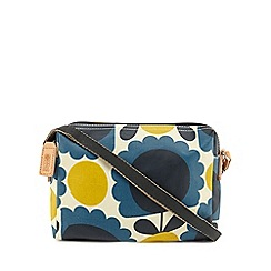 Orla Kiely - Blue scalloped floral print cross body bag