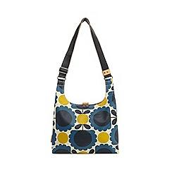Orla Kiely - Blue scalloped floral print shoulder bag
