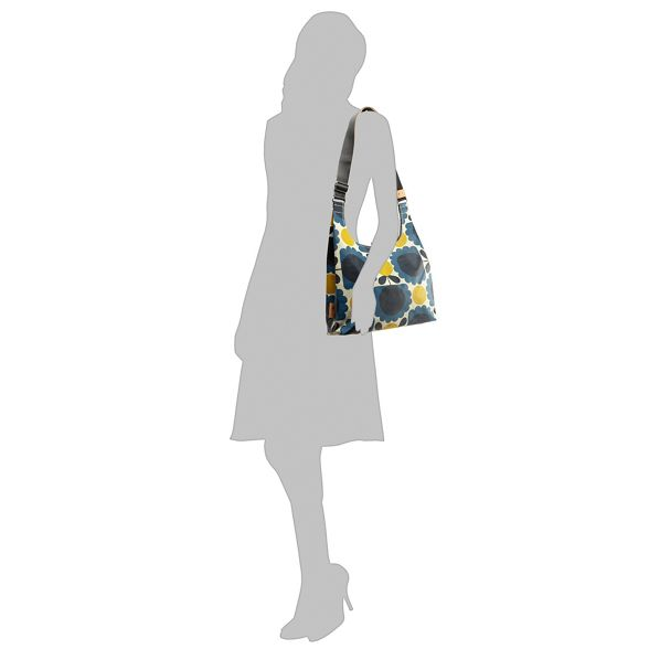 print Kiely Blue scalloped shoulder floral bag Orla IadqxI