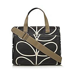 Orla Kiely - Black 'Giant Linear Stem' print messenger bag