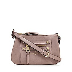 J by Jasper Conran - Light pink zip detail cross body bag