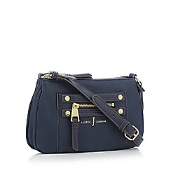 J by Jasper Conran - Navy zip detail cross body bag