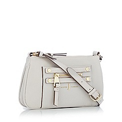 J by Jasper Conran - Grey zip detail cross body bag