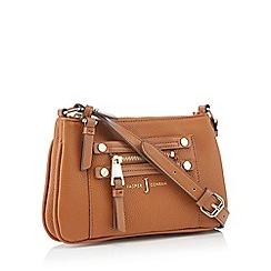 J by Jasper Conran - Tan zip detail cross body bag