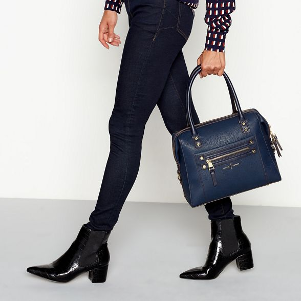 studded bag Navy by detail Jasper J Conran bowler zip HPpInqw