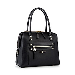 J by Jasper Conran - Black studded zip detail bowler bag