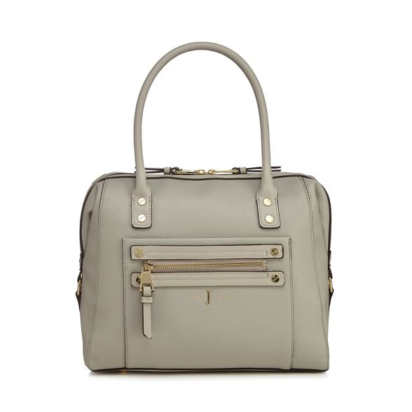 Jasper J Conran by zip Grey studded bowler detail bag rrw5xaZq