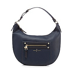 J by Jasper Conran - Navy zip detail shoulder bag