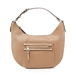 J by Jasper Conran - Camel zip detail shoulder bag