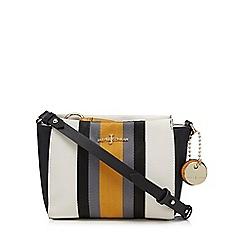 J by Jasper Conran - White webbed stripe cross body bag