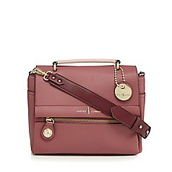 J by Jasper Conran - Dark pink colour block cross body bag