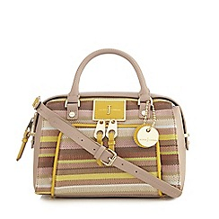 J by Jasper Conran - Pink striped bowler bag