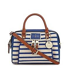 J by Jasper Conran - Blue striped bowler bag