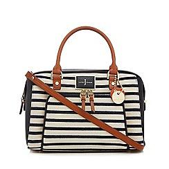 J by Jasper Conran - Multicoloured striped front pocket grab bag