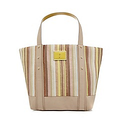 J by Jasper Conran - Light pink woven stripe shopper bag