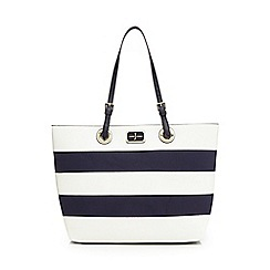J by Jasper Conran - Navy striped tote bag