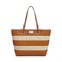 J by Jasper Conran - Tan striped tote bag