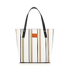 J by Jasper Conran - White Monaco striped shopper bag