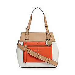 J by Jasper Conran - Orange colour block small shoulder bag