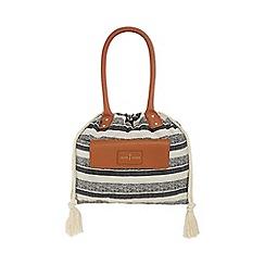 J by Jasper Conran - Multi-coloured stripe 'St Germain' drawstring tote bag