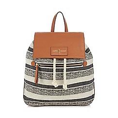 J by Jasper Conran - Multi-coloured stripe 'St Germain' drawstring backpack