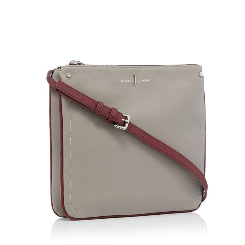 J by Jasper Conran - Grey Colour Block Cross Body Bag