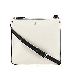 J by Jasper Conran - White colour block cross body bag