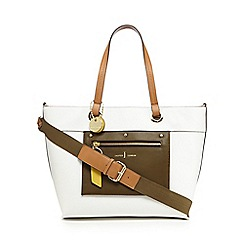 J by Jasper Conran - White panel detail large tote bag