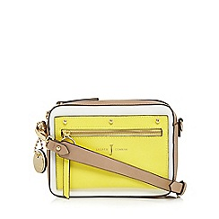 J by Jasper Conran - Yellow colour block small grab bag