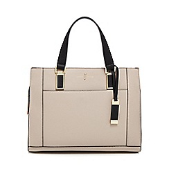 J by Jasper Conran - Taupe colour block shoulder bag