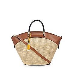 J by Jasper Conran - Tan 'Marrakesh' straw tote bag