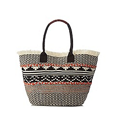J by Jasper Conran - Multi-coloured Aztec-inspired woven 'Morocco' tote bag