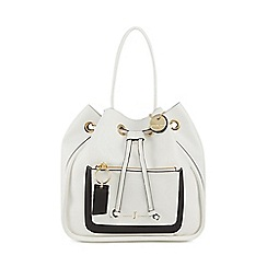 J by Jasper Conran - White 'Cheshire' tote bag