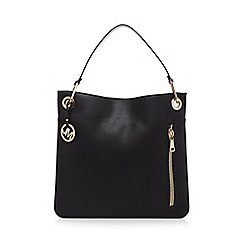 Star by Julien Macdonald - Black zip detail shoulder bag