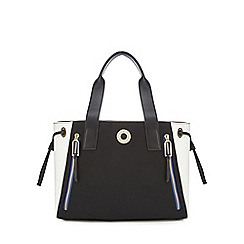 Star by Julien Macdonald - Black zip detail large shopper bag