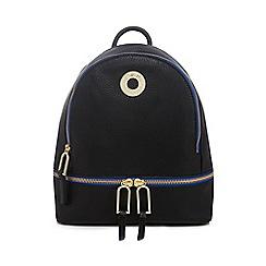 Star by Julien Macdonald - Black contrast trim backpack