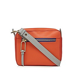 Star by Julien Macdonald - Orange zip detail cross body bag