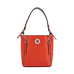 Star by Julien Macdonald - Orange zip detail bucket bag