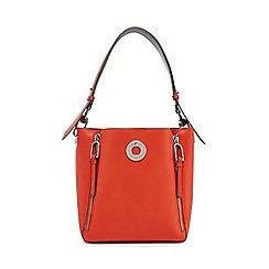 Star By Julien Macdonald Orange Zip Detail Bucket Bag