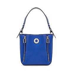 Star by Julien Macdonald - Blue zip detail bucket bag