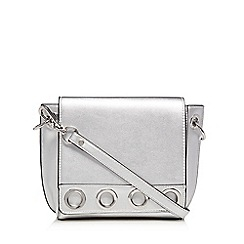 Star by Julien Macdonald - Silver eyelet detail cross body bag