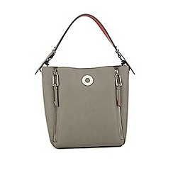Star by Julien Macdonald - Grey zip side bucket bag