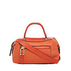 Star by Julien Macdonald - Orange zip pocket bowler bag