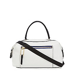 Star by Julien Macdonald - White zip detail bowler bag