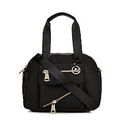 Star by Julien Macdonald - Black zip detail bowler bag
