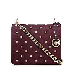 Star by Julien Macdonald - Purple quilted satin stud cross body bag