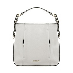 RJR.John Rocha - Grey double zip hobo bag